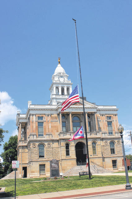 In honor of Ron Burke — a dedicated local man who served at the Fayette County Sheriff's Office and in a plethora of other local organizations, who passed away over the weekend — various American flags in the county flew at half-mast. Stay with the Record-Herald this week for a feature article on the life of Burke from those who knew him best.