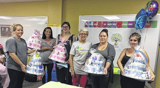 Fayette County WIC celebrated by holding a baby shower for its clients.