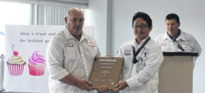 Honda presents YUSA with award