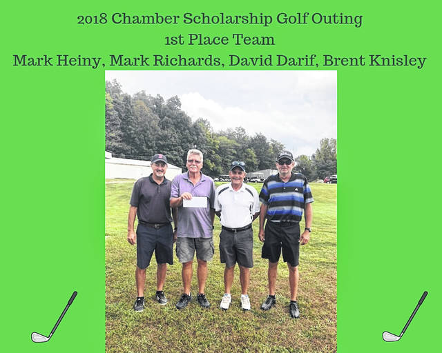 The Fayette County Chamber of Commerce thanked its numerous sponsors, players and volunteers for their support of the annual Scholarship Golf Outing. Eighteen teams came together for a great day of golfing at Buckeye Hills Country Club on Sept. 7.